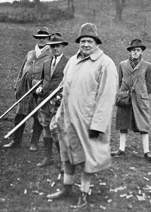 Winston Churchill shooting in north Wales.