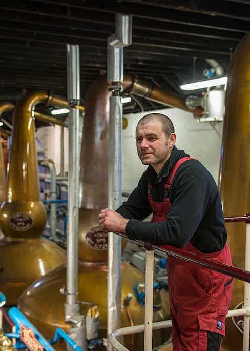 George Singer is The Balvenie's esteemed coppersmith.