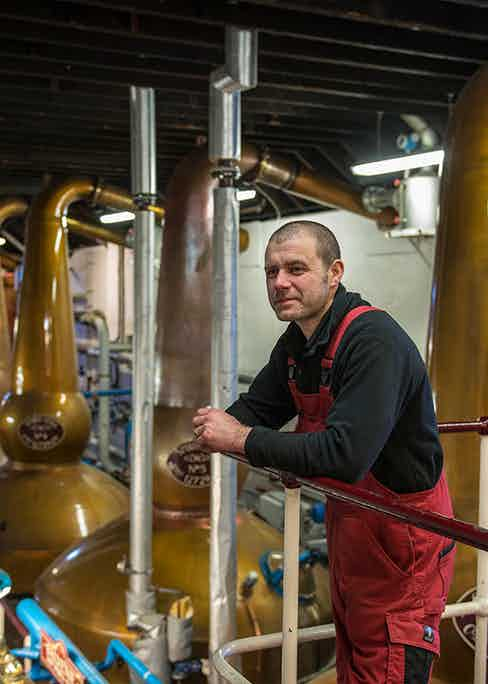 George Singer is The Balvenie's esteemed coppersmith.