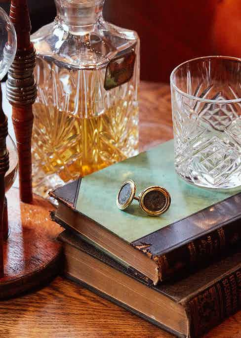 Elizabeth Gage's cufflinks are a rare opportunity to wear a piece of history on your sleeves.