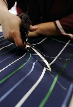 Bigi Cravatte's ties are handcut in the company's Milanese workshop.