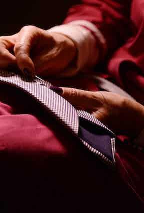 A human touch is central to Bigi Cravatte's philosophy.
