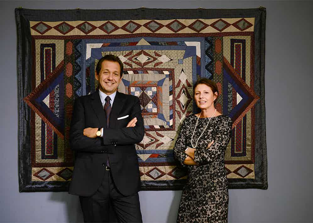 Stefano and Paola Bigi are the proud owners of the Bigi Cravatte brand.