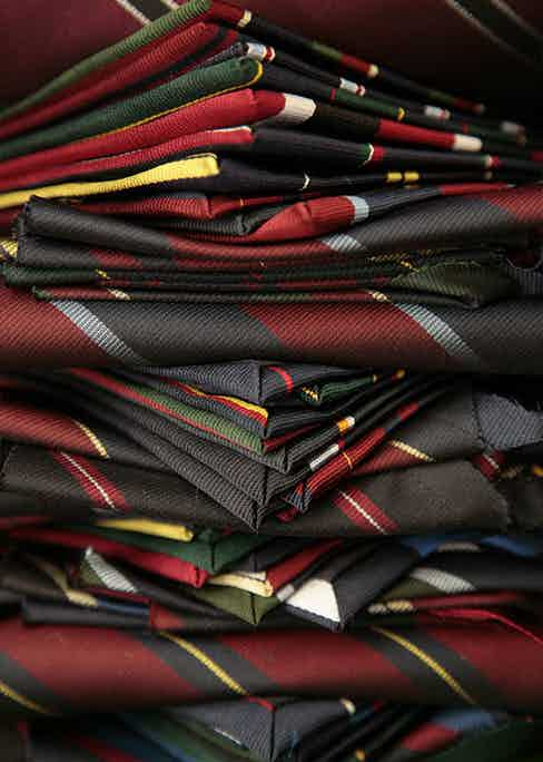 A selection of Bigi Cravatte's ties, crafted using the highest quality fabrics.