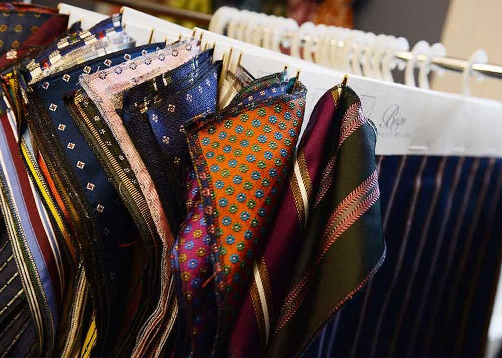 Bigi Cravatte is one of the few tie companies to still use hand-printed fabrics.