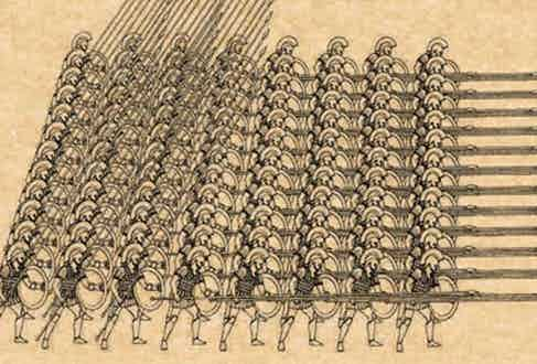 Spartan phalanx.