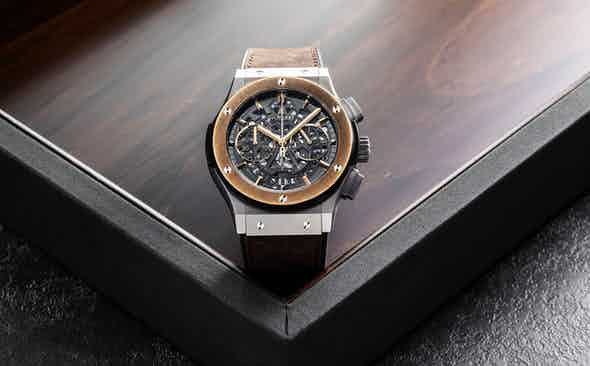 Hublot donate the Aerofusion Chronograph 'Molon Labe' watch for Revolution x The Rake Covid-19 Solidarity Auction