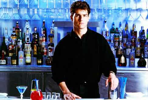 Tom Cruise shakes things up in the aptly titled Cocktail (1988).
