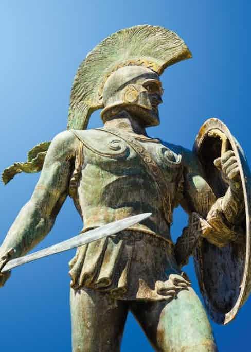 King Leonidas statue in modern-day Sparta, Greece.