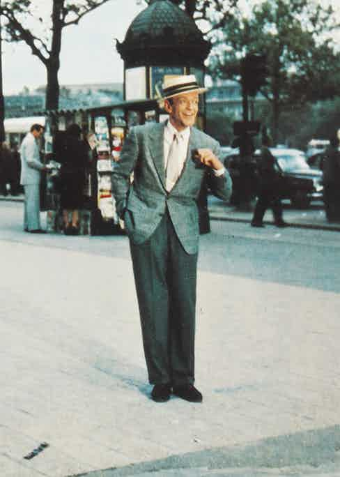 Fred Astaire in Funny Face, 1956, wearing Anderson & Sheppard.