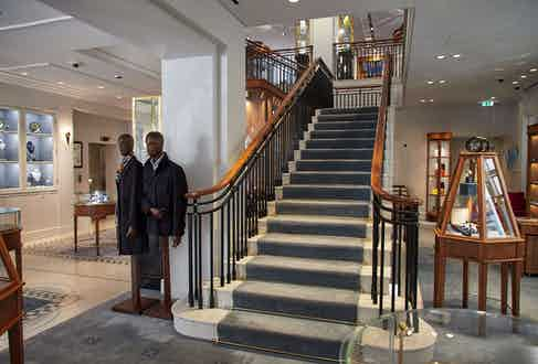 The Bruton Street store and headquarters of William & Son is as homely as it is impressive.