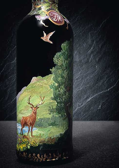 The 1926 60-year-old The Macallan is the only bottle in existence hand-painted by Irish Michael Dillon.