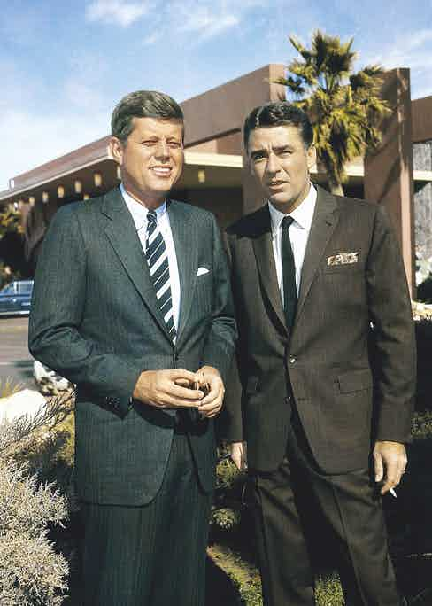 With Rat Pack member and Oceans 11 star Peter Lawford, 1960