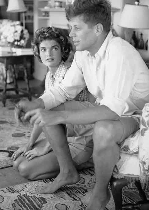 Kennedy and Jackie in Hyannis Port, Massachusetts, 1953 (Photo by Hy Peskin/Getty Images)
