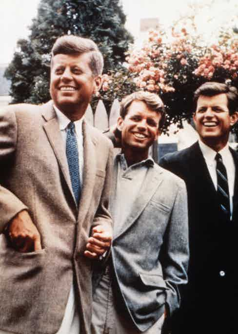 With Robert Kennedy and Edward Kennedy in Hyannis Port, 1960