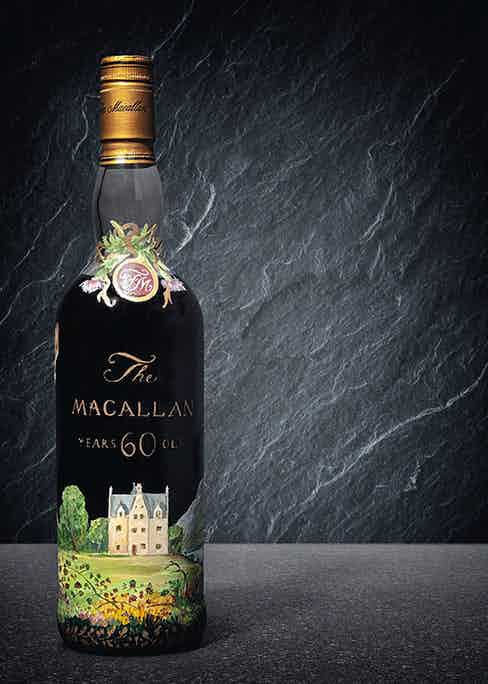 The hand-painted bottle of 1926 60-year-old The Macallan is expected to set a world record at auction on November 29.