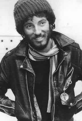 Bruce Springsteen wearing a Schott jacket.