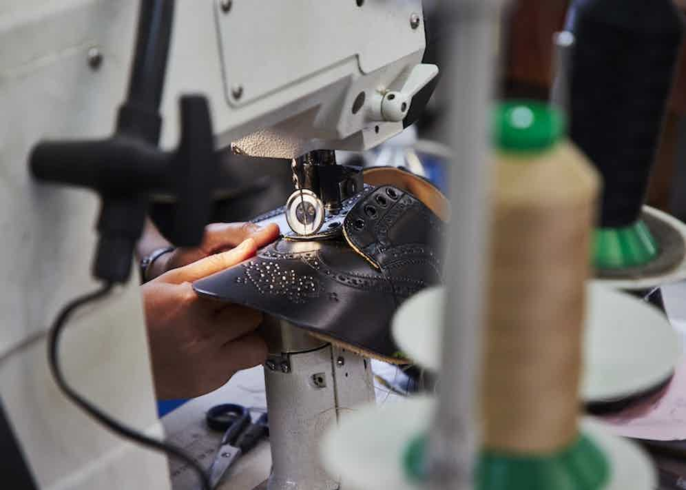 The upper of a brogue-in-the-making.