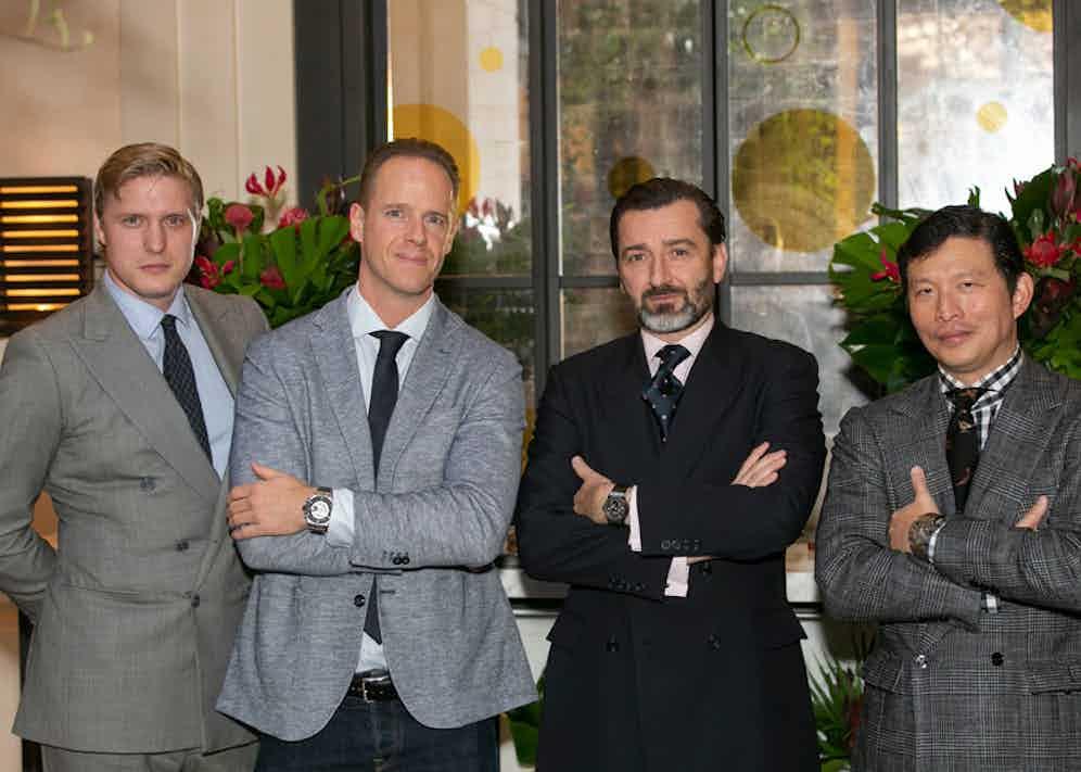 Tom Chamberlin, Raphael Nussbaumer, Benoit Lecigne and Wei Koh.