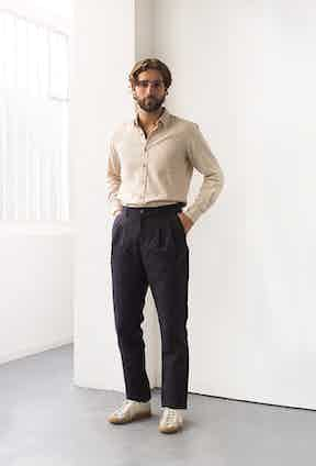 Loose tailoring is key to the De Bonne Facture aesthetic.