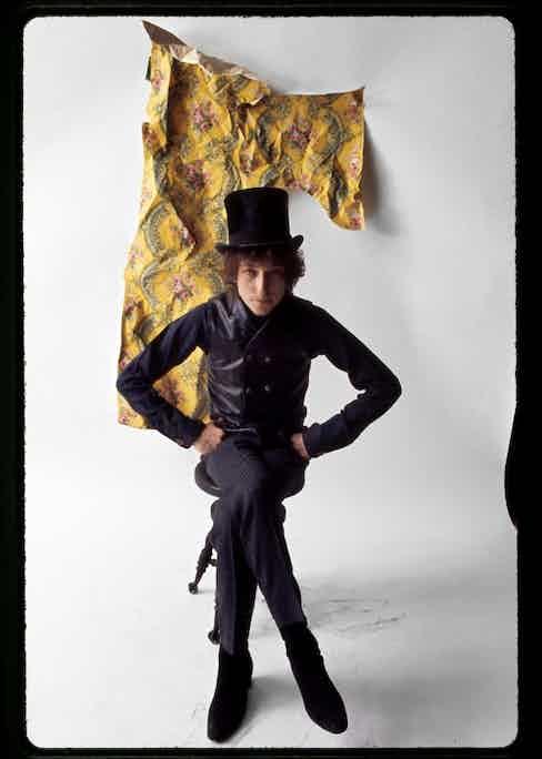 Dylan is pictured posing in Schatzberg's photography studio in 1965. © Jerry Schatzberg. Courtesy of ACC Art Books.