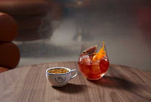 Maison Old Fashioned with Chocolate Pot