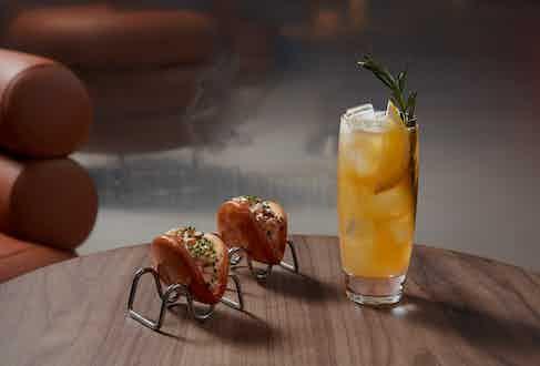 Rosemary Collins with Bibendum Lobster Bao