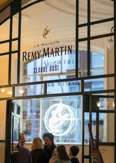 La Maison Rémy Martin at Claude Bosi is a visual homage to Monsieur Bibendum.