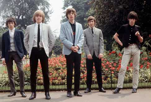 The Rolling Stones sporting Chelsea boots in Hyde Park.