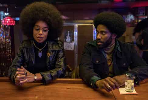 Laura Harrier acts alongside John David Washington as the strong-willed student activist Patrice.