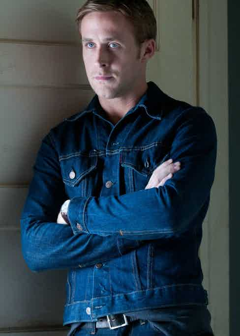 Gosling's character provides a valuable lesson in pulling off double denim.