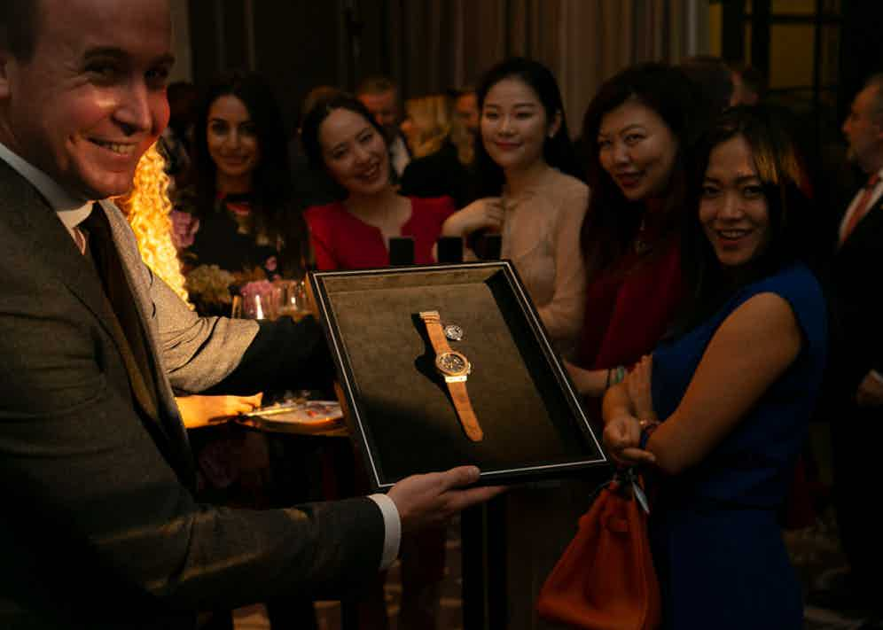 The proceeds of the charity auction went to The Prince's Trust.