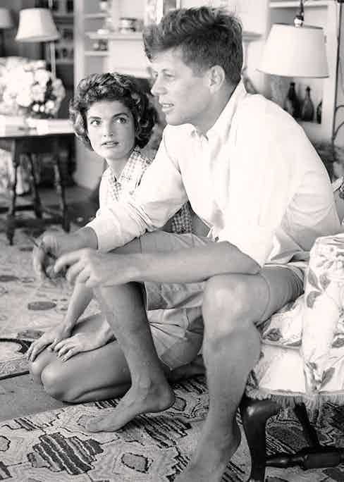 Kennedy and Jackie in Hyannis Port, Massachusetts, 1953.