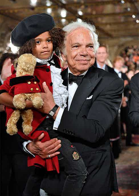 Ralph Lauren at the house's 50th anniversary show in New York, 2018