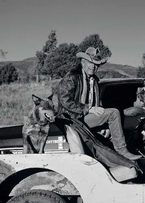 Ralph Lauren on his ranch.