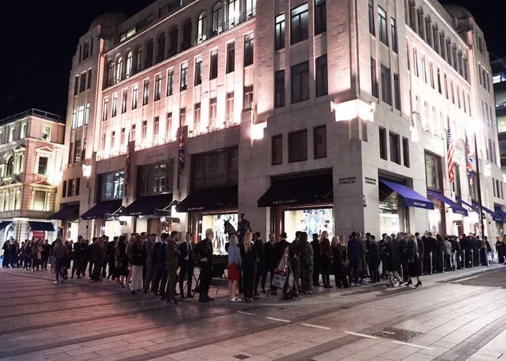 Outside Ralph Lauren's New Bond St store.