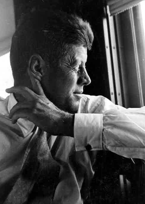 A pensive Kennedy, 1964 (Photo by AUGUSTO MENESES/REX/Shutterstock (7260a)