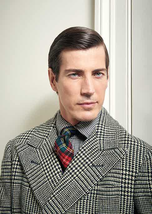 The wool tartan tie is an excellent way to clash patterns and colours when wearing business attire.