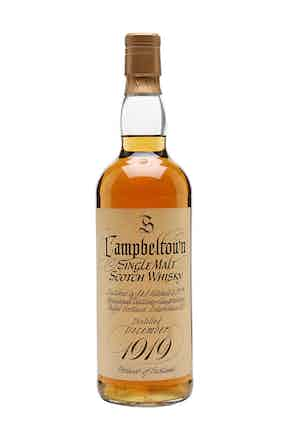 A rare bottle of Springbank 1919 is also up for sale at the November 29 auction at Christie's.