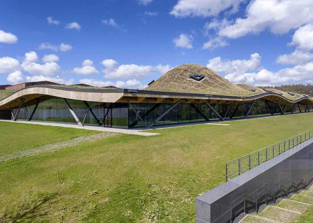 The impressive new The Macallan distillery in Speyside, designed by Rogers Stirk Harbour + Partners.