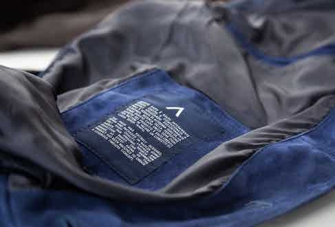 With each jacket made comes a certificate of quality. Photo by Shaun Darwood.