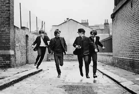 A still from the feature film A Hard Day's Night (1964).