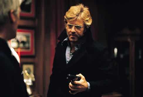 Robert Redford as Joseph Turner in Three Days of the Condor, 1975.