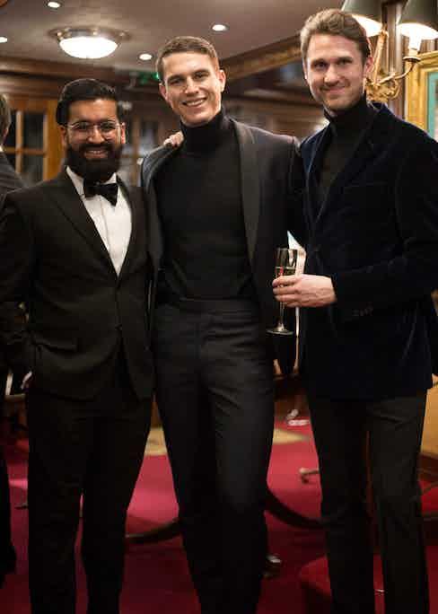 Rikesh Chauhan, Benedict Browne and Jon Holt.