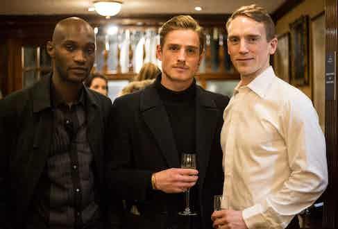 Olivier Geraghty, Patrick O'Donnell and Joe Moreline.