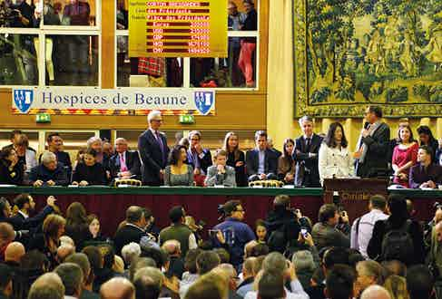 A scene from last year's Hospices de Beaune auction held by Christie's.
