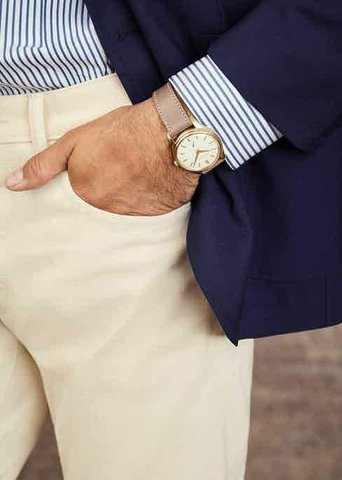 Rare yellow gold Patek Philippe wristwatch with enamel dial.