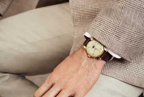 Yellow gold Rolex 'Padellone' reference 8171 with two-tone dial.