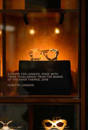 To encapsulate the entire retrospective, the team at Cubitts paid the banks of the River Thames and plucked out various items that span 600 years, and condensed them into the frames.