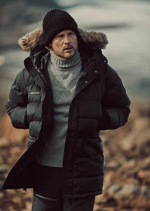 Shackleton co-founder Ian Holdcroft in the Endurance Parka.